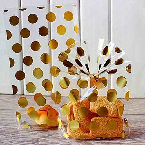100pcs//bag Clear Cellophane Cookie Sac Sacs en Plastique pour biscuits collation Emballage